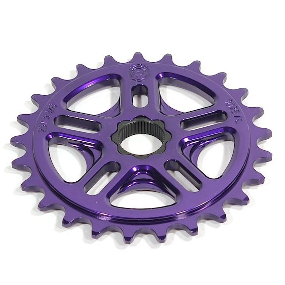 Profile 33t Spline Drive BMX Sprocket / Chainwheel - 19mm - 48-spline - Purple - USA Made