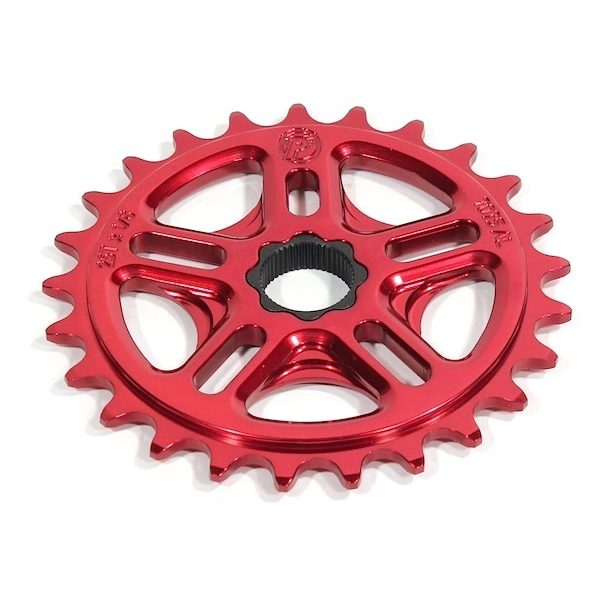 Profile 33t Spline Drive BMX Sprocket / Chainwheel - 19mm - 48-spline - Red - USA Made