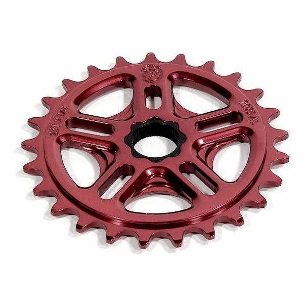 Profile 36t Spline Drive BMX Sprocket / Chainwheel - 19mm - 48-spline - Blood Red - USA Made