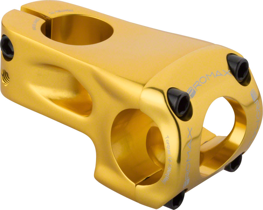 Promax Banger 31.8mm Clamp Frontload BMX Threadless Stem - 53mm - Gold