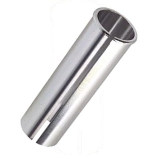 BICYCLE ALUMINUM SEAT POST SHIM 25mm to 27.2mm SILVER COLOR