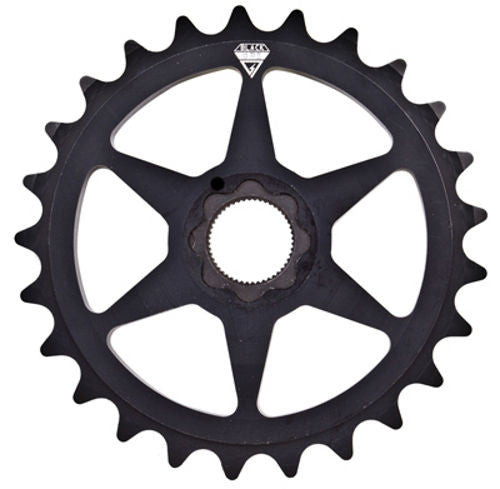 BlackOps 25t Spline Drive Aluminum Sprocket - Black