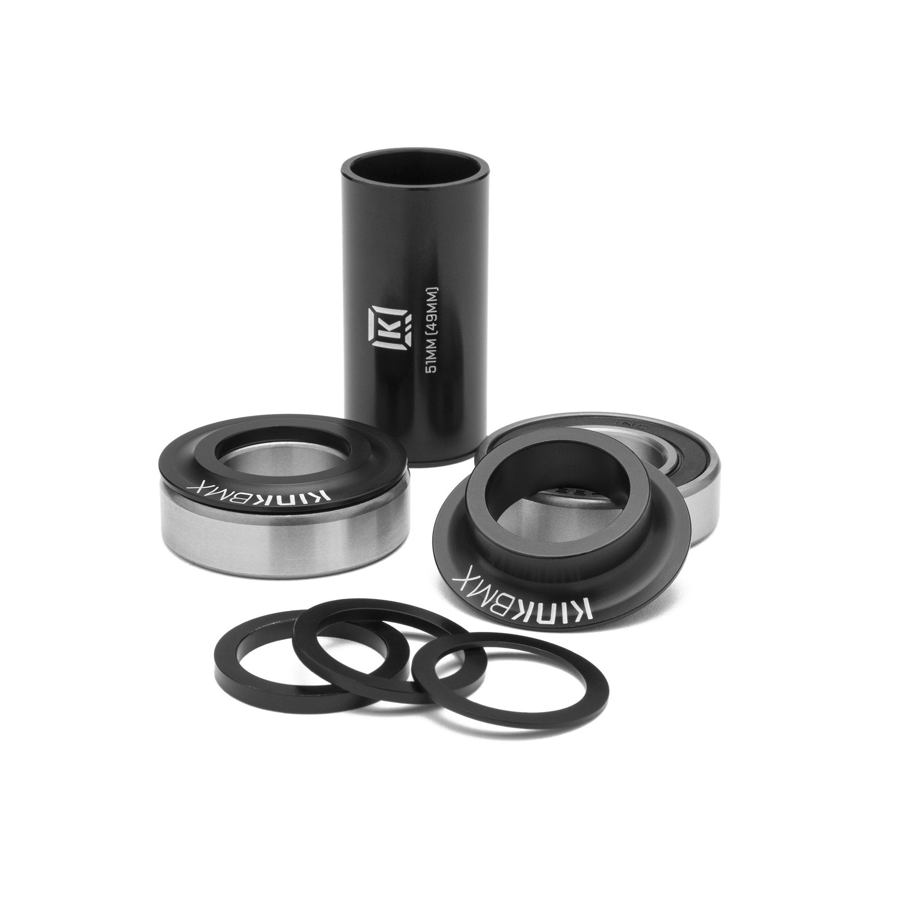 Kink BMX Mid BMX Bottom Bracket Kit - 19mm - Matte Black