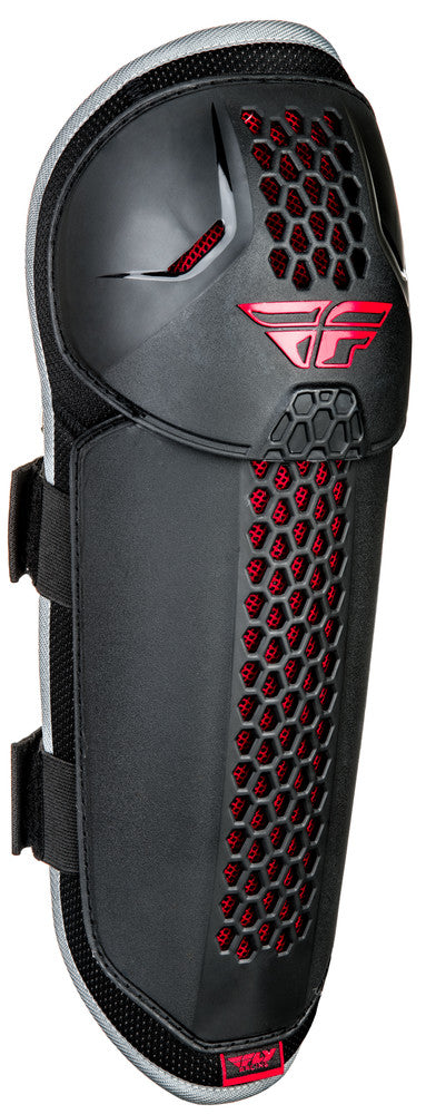Fly Racing CE Barricade BMX Knee/Shin Guard - Adult Size - Black/Red