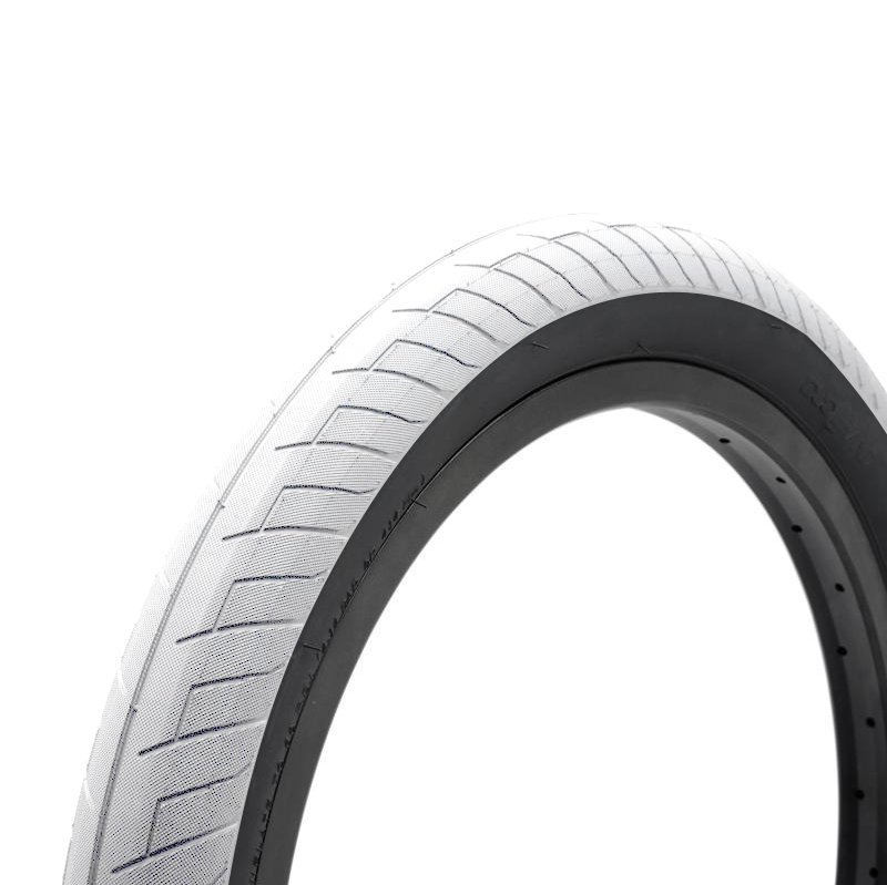 18x2.10 Duo SVS BMX Tire - White w/ Black Sidewall - 60psi
