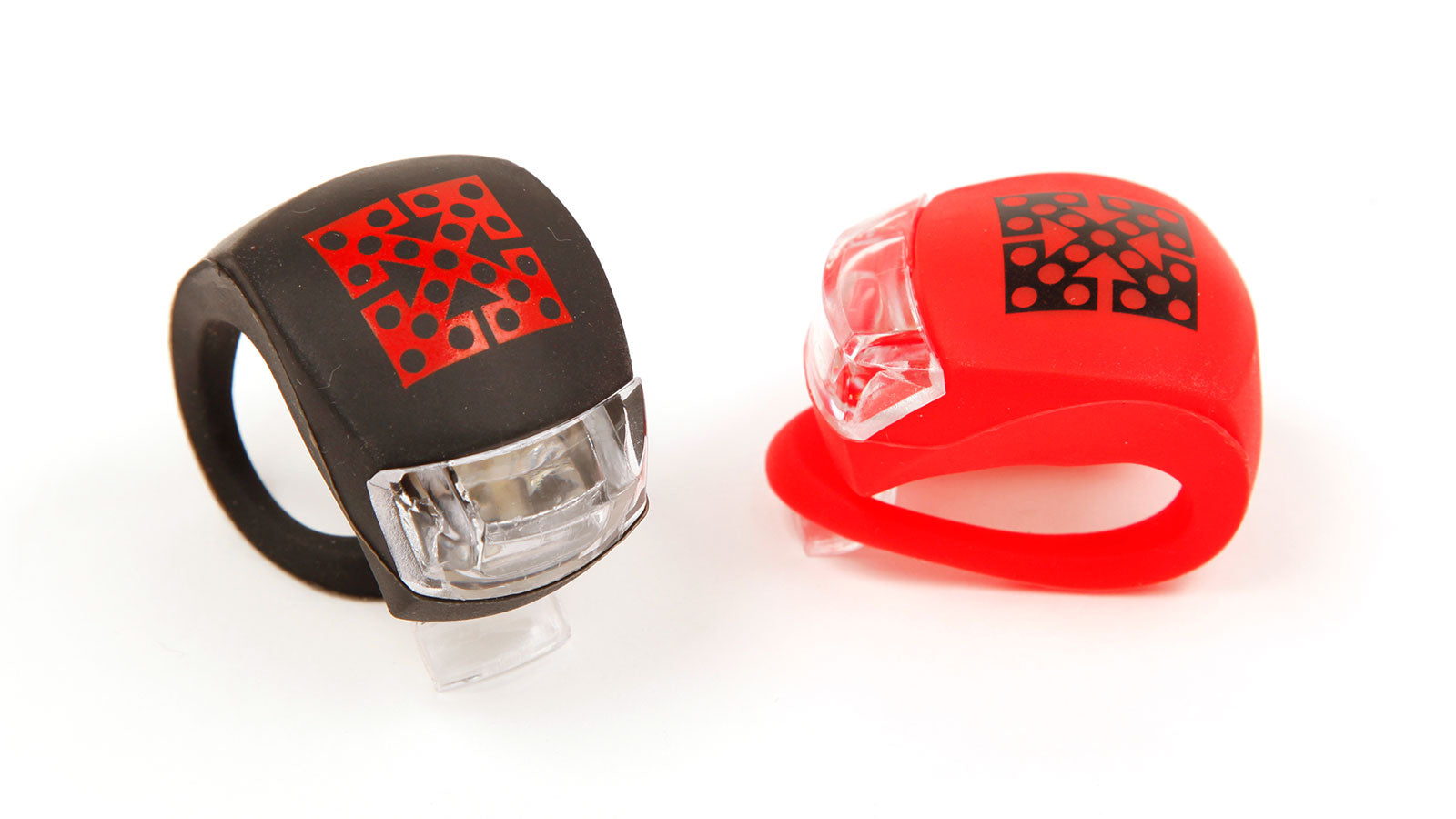 FitLit Bike Lights - Pair - Front/White & Rear/Red