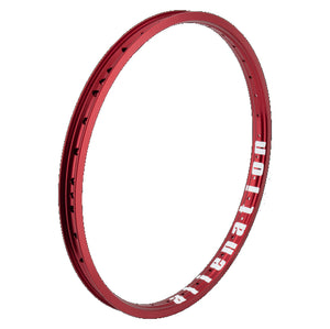 "20"" (406mm) Alienation Malice G69 TSC Rear BMX Rim - Aluminum - Double Wall - 36h - Gloss Red"