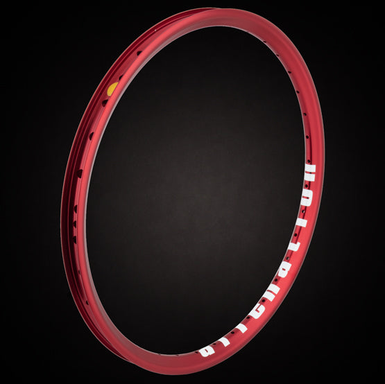 "20"" (406mm) Alienation Mischief G69 TSC Front BMX Rim - Aluminum - Double Wall - 36h - Gloss Red"