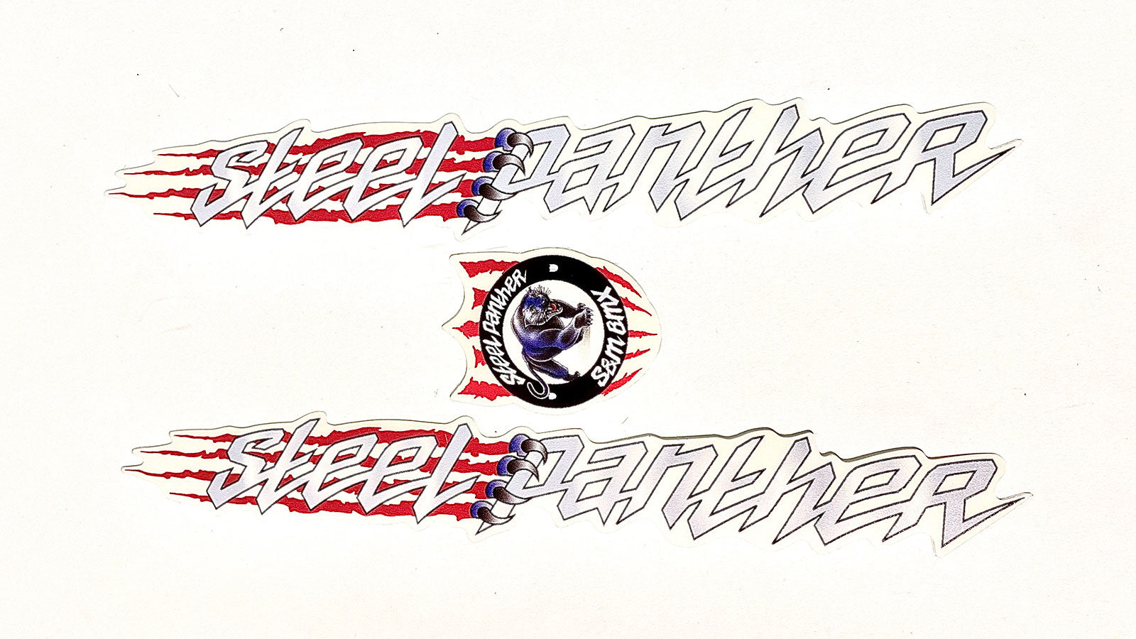 S&M Steel Panther BMX Frame Decal Set