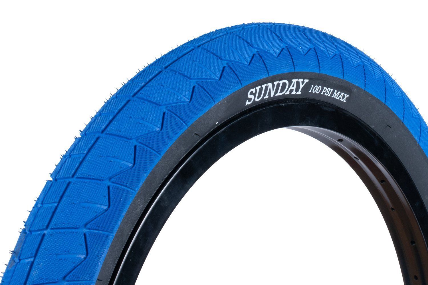 20x2.40 Sunday BMX Current V2 Tire - 100 psi - Blue w/ Black Sidewall