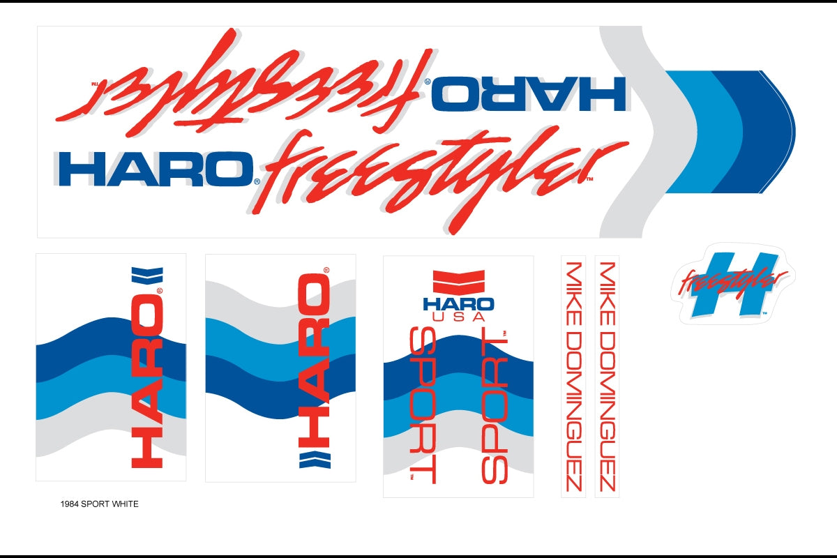 Details about  /Haro Sport decals for yellow frame