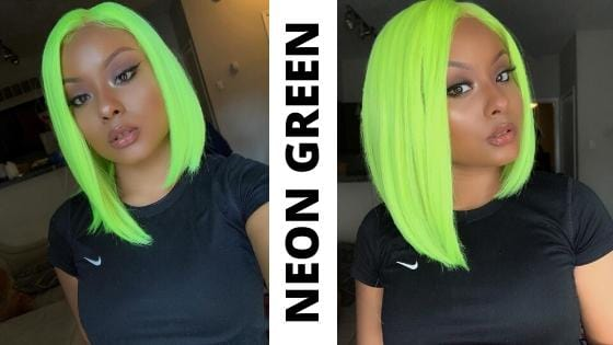 Neon Green Wig - Shear Muse Collection - Sensationnel Makayla Wig