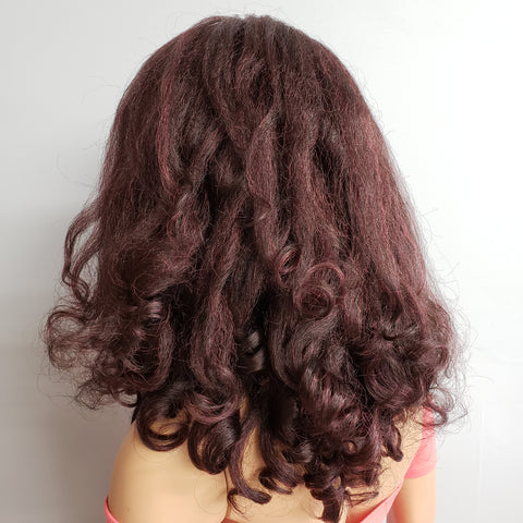 natural looking texture wig