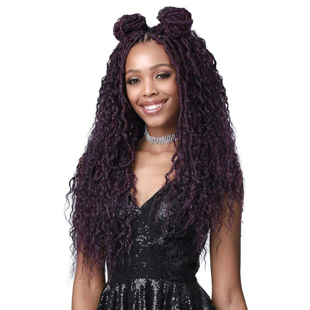 BOBBI BOSS Crochet Braiding Hair Bobbi Boss Synthetic Nu Locs Boho Style Crochet Braid - 2X French Deep 20""