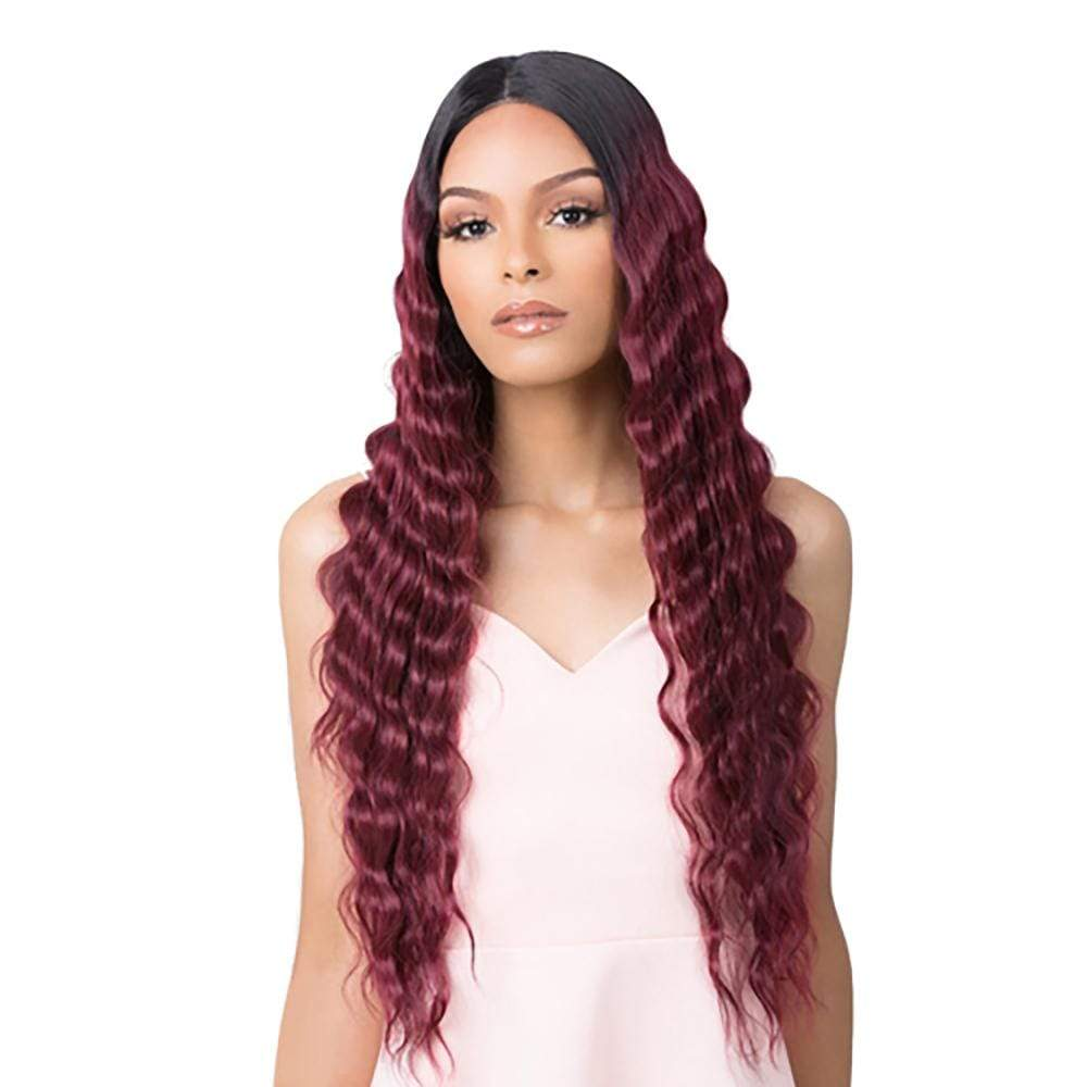 IT'S A WIG! Synthetic Lace Front Wig Copy of It's A Wig! Synthetic HD Transparent Lace Wig - Crimped Hair 4