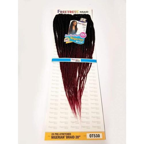 SHAKE-N-GO Crochet Braiding Hair Freetress Crochet Braid 2X Pre-Stretched | Nigerian Braid 20""