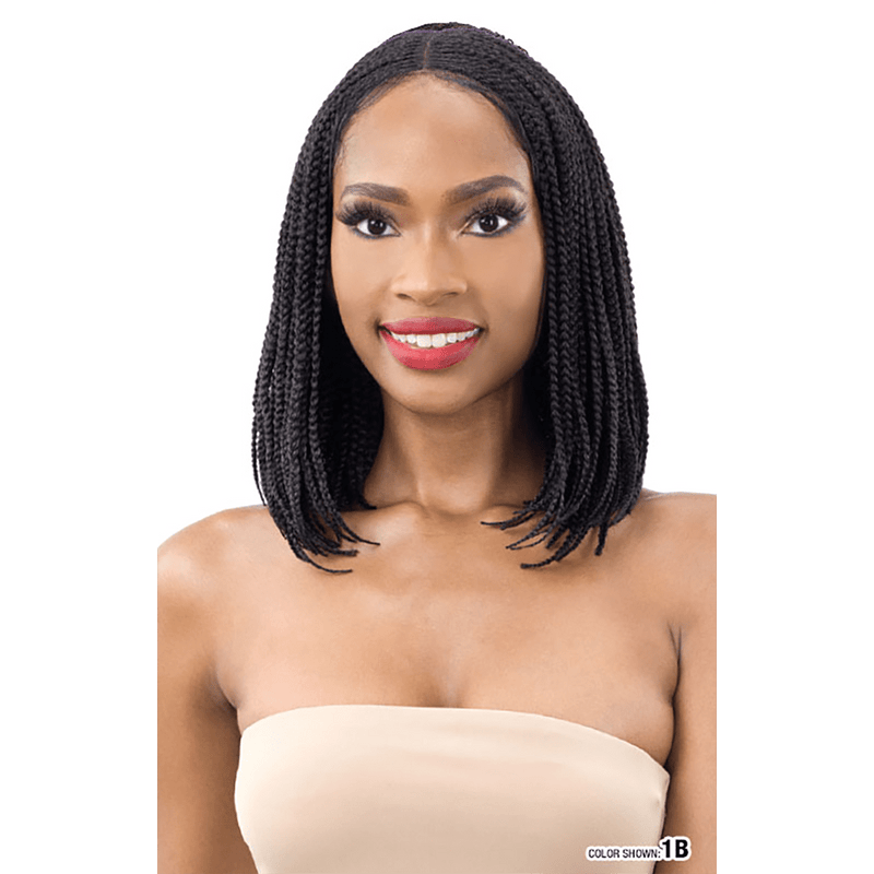 SHAKE-N-GO Premium Synthetic Wig FreeTress Equal Synthetic Braided Lace Wig - Bob Box Braids
