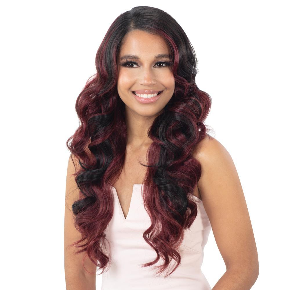 SHAKE-N-GO Synthetic Lace Front Wig FreeTress Equal Synthetic HD Illusion Lace Front Wig - HDL04