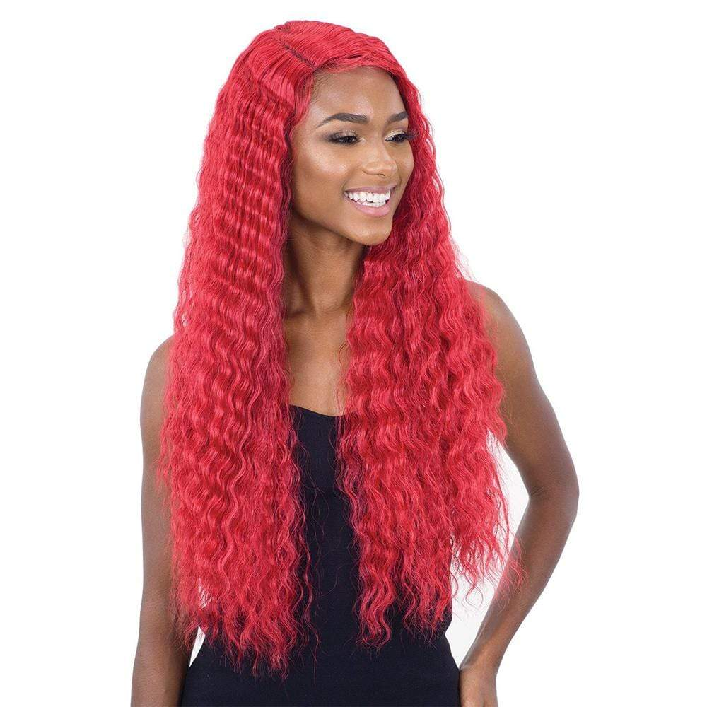 SHAKE-N-GO Synthetic Lace Front Wig FreeTress Equal Synthetic Lace & Lace Wig - Deep Waver 002