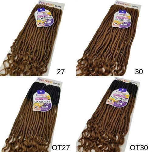 SHAKE-N-GO Crochet Braiding Hair FreeTress Synthetic Crochet Braid - Gypsy Goddess Loc 20""