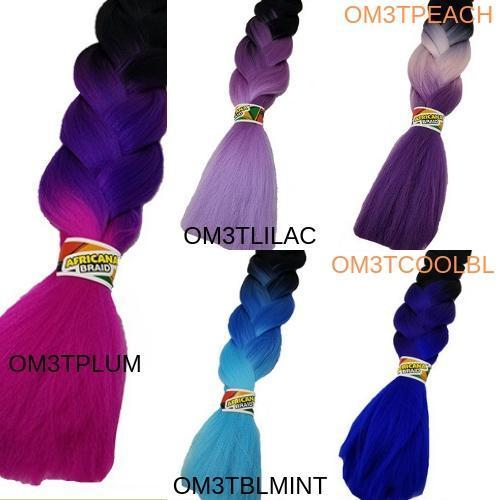 SHAKE-N-GO Crochet Braiding Hair FreeTress Synthetic Ombre Braiding Hair - Africana Braid 48""