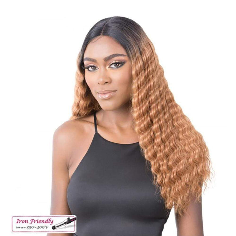 IT'S A WIG! Synthetic Lace Front Wig It's A Wig! Synthetic HD Transparent Lace Wig - Crimped Hair 3