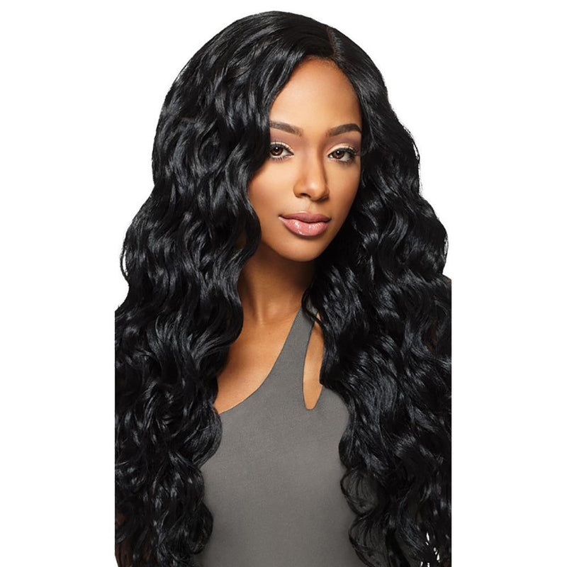 OUTRE Synthetic Hair Weave Outre Brazilian Boutique Synthetic Deep Lace Closure - Virgin Body