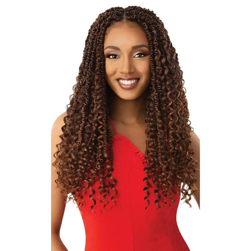 OUTRE Crochet Braiding Hair Outre X-Pression Synthetic Twisted Up Crochet Hair - Boho Wavy Bomb Twist 20""