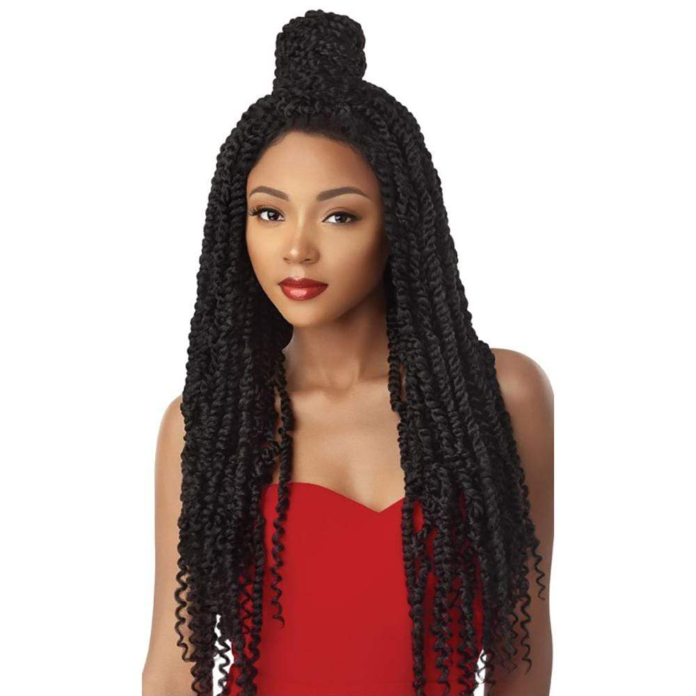 OUTRE Synthetic Lace Front Wig Outre X-Pression Twisted Up Synthetic Lace Front Braid Wig - Passion Twist 28""
