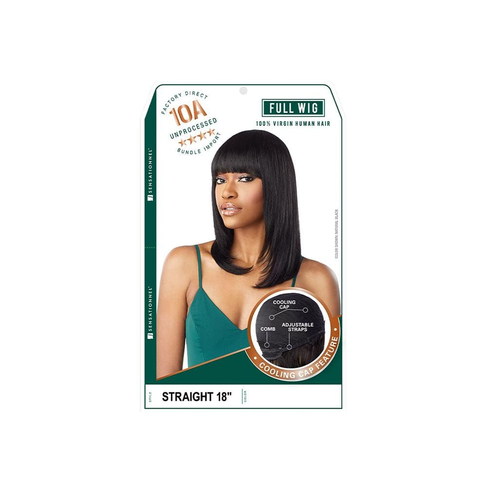 SENSATIONNEL Human Hair Wigs Sensationnel 100% Unprocessed Virgin Human Hair Full Wig - Straight 18""