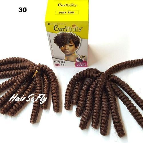 SENSATIONNEL Crochet Braiding Hair Sensationnel Curlfinity Crochet Braid - Pink Rod 20""