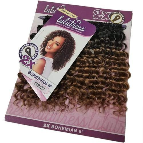 SENSATIONNEL Crochet Braiding Hair Sensationnel Lulutress Crochet Braid - 2X Bohemian 8""
