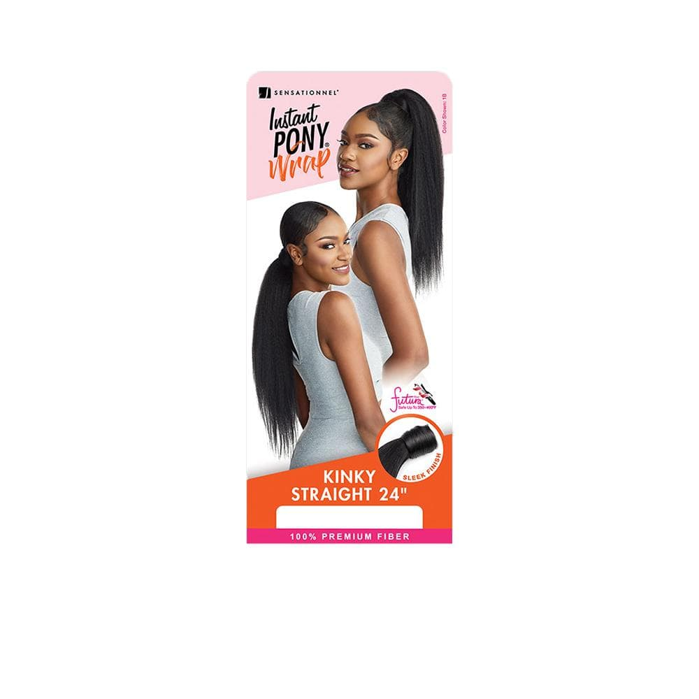SENSATIONNEL Synthetic Ponytail Sensationnel Synthetic Instant Wrap Ponytail - Kinky Straight 24""