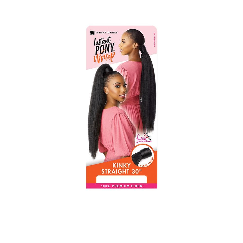 SENSATIONNEL Synthetic Ponytail Sensationnel Synthetic Instant Wrap Ponytail - Kinky Straight 30""
