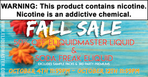 Eliquidmaster Fall Sale