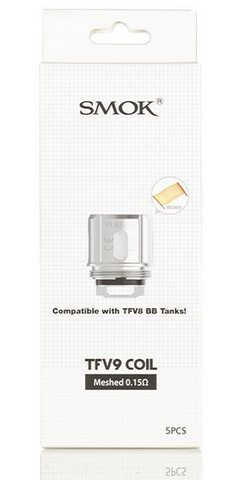TFV9 Replacement Coils By SMOK (compatible with baby beast and RPM160 V9)