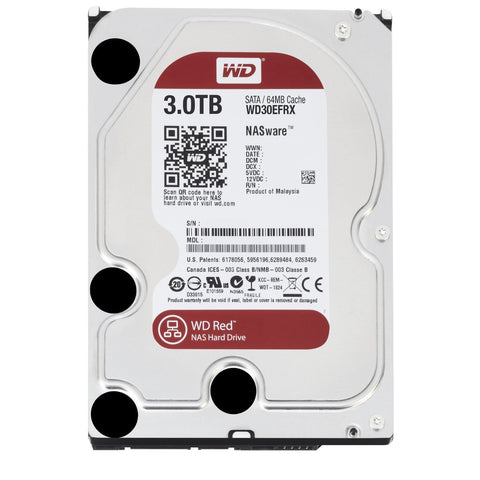 "WD 3.5"" Red 3TB WD30EFRX IntelliPower SATA 6.0Gb/s NAS Internal Hard Drive - OEM"