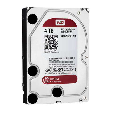 WD Red WD40EFRX 4TB IntelliPower SATA 6.0Gb/s NAS Hard Drive - OEM Bare Drive