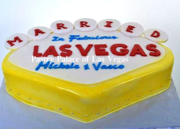 1016 – Married in Vegas Sign - Pastry Palace