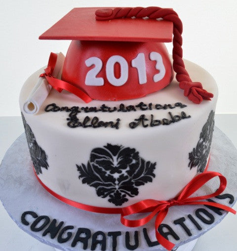 1599 – Congratulations, Graduate! (Red) - Pastry Palace