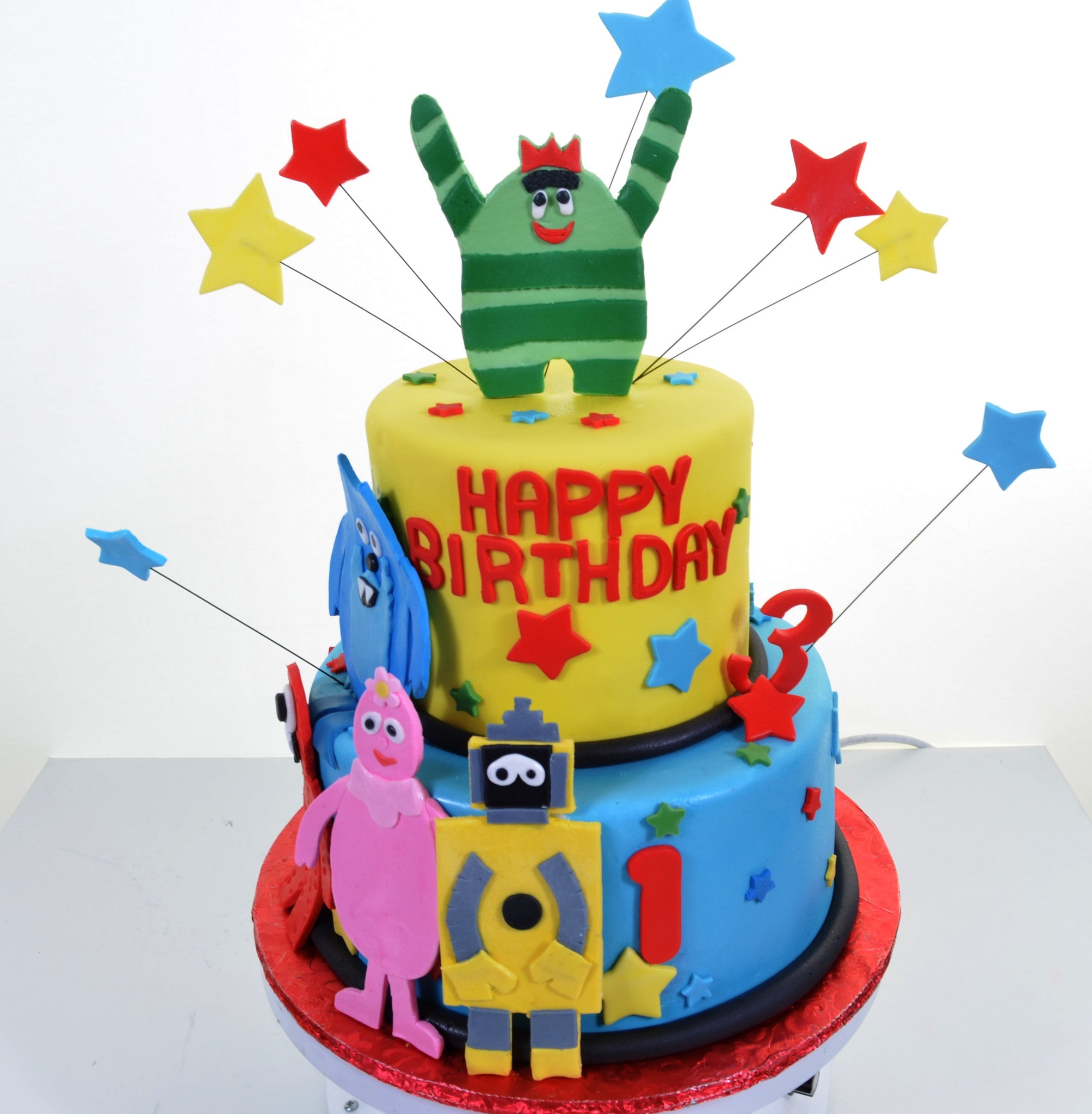 "1977 – Birthday with the ""YoGabbaGabba!"" gang"