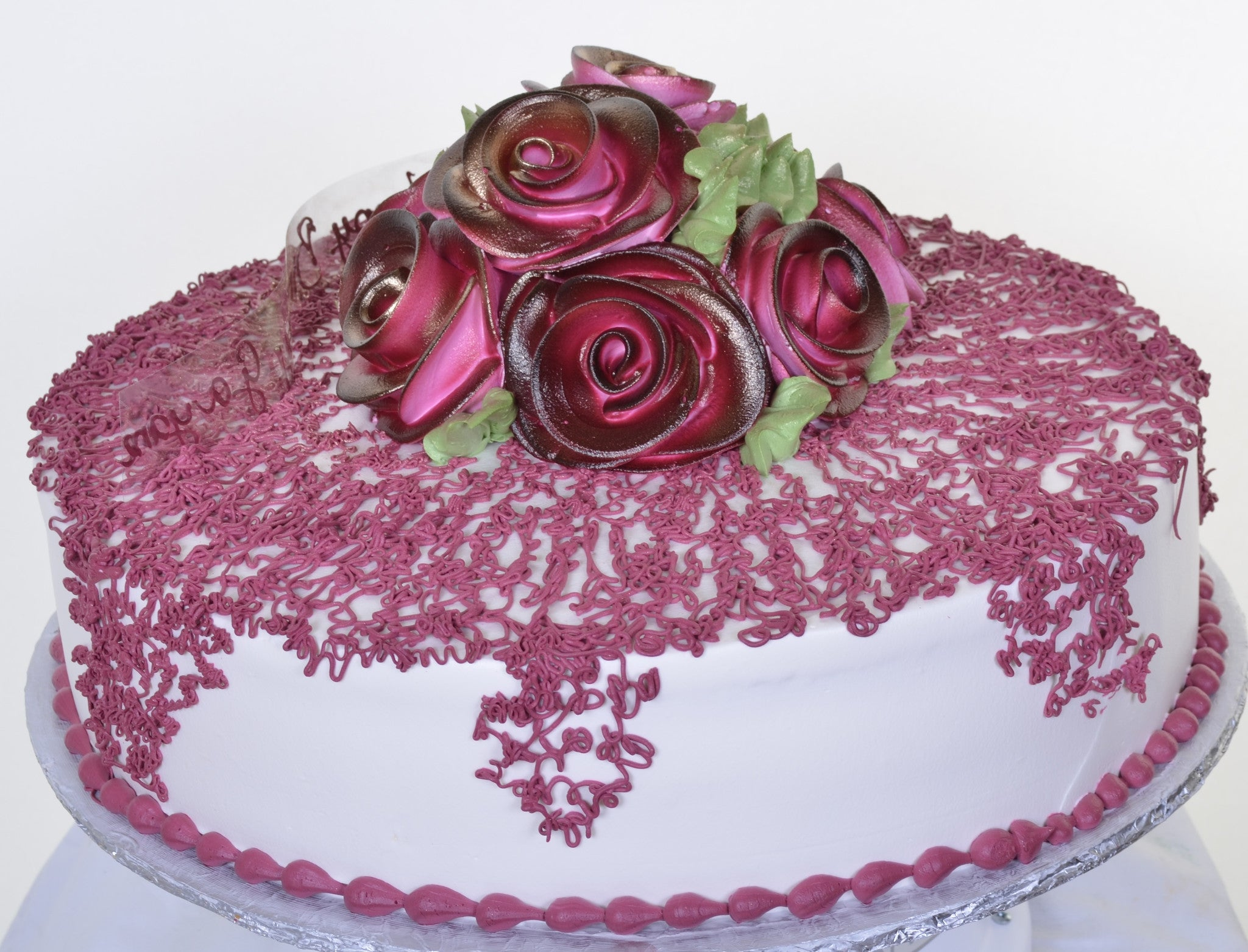 Purple Rose Birthday Cake Pastry Palace