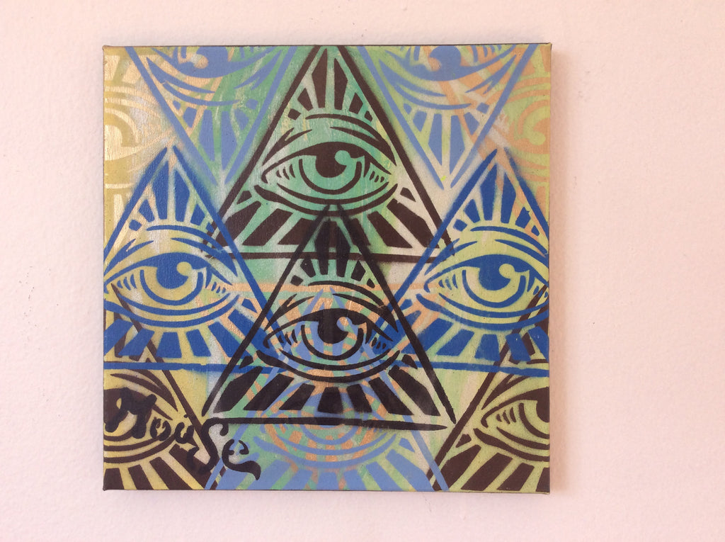 ALL OVER EYE SEE ON CANVAS