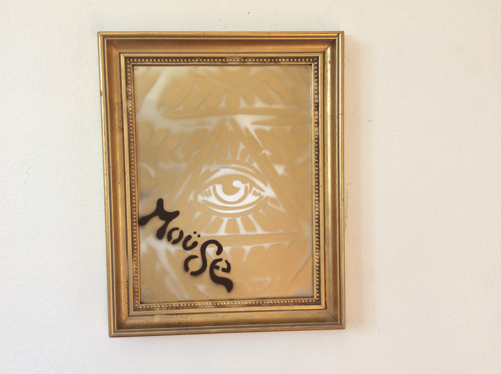 EYE SEE GOLD ON FRAMED MIRROR
