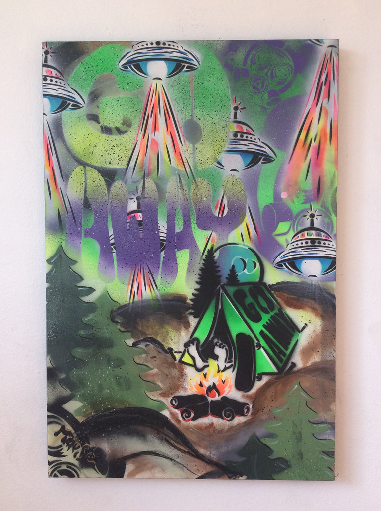 ABDUCTION ON CANVAS