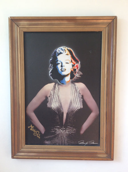 MONROE PAINTED ON FRAMED CANVAS PRINT