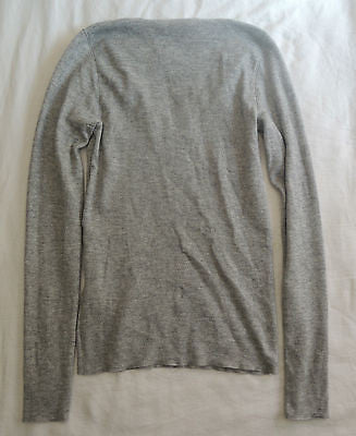 ~ BRUNELLO CUCINELLI METALLIC GRAY CASHMERE SWEATER (OHHH SO SOFT!)~ XS