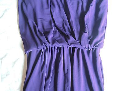 LANVIN VIOLET DRAPED ONE SHOULDER FLOOR LENGTH GOWN DRESS