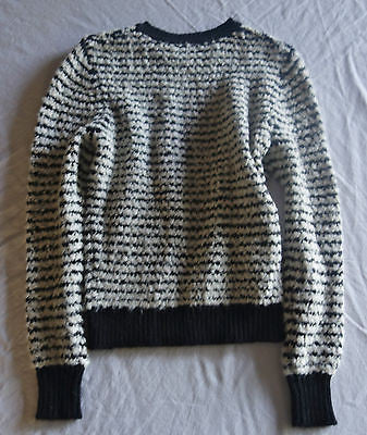 ~ ISABEL MARANT CANELIA BLACK & WHITE STRIPED KNIT SWEATER (SO COZY COOL) 1 / S