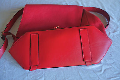 ~NEW PROENZA SCHOULER RED LEATHER PS COURIER BACKPACK / SATCHEL BAG (CURRENT!)~